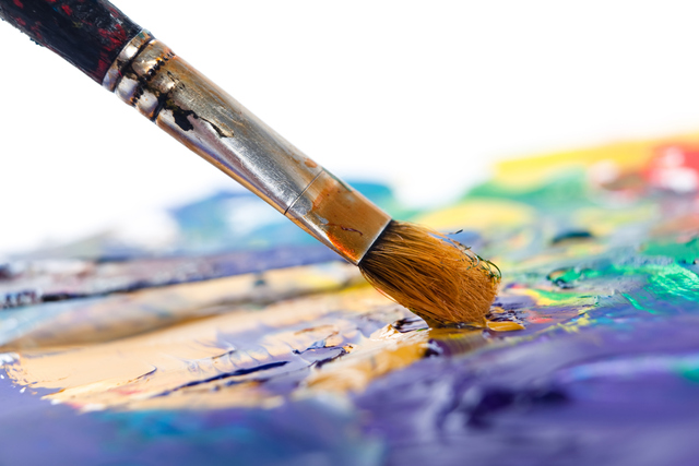 Painting with paintbrush